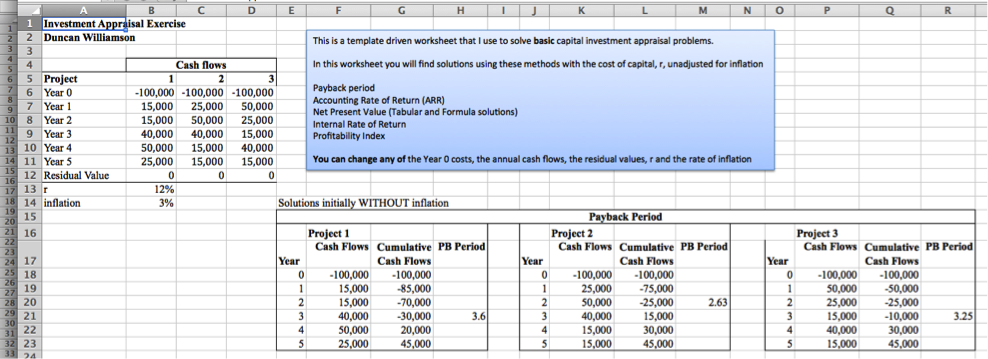Payback Period Excel With Excel Master